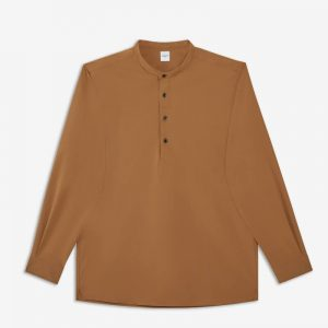 BEIGE SOLOTEX TUNIC SHIRT