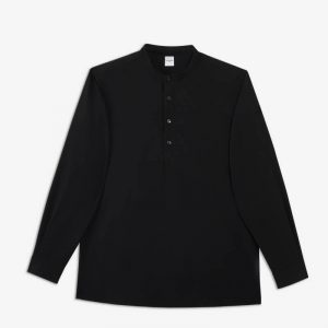 BLACK SOLOTEX TUNIC SHIRT