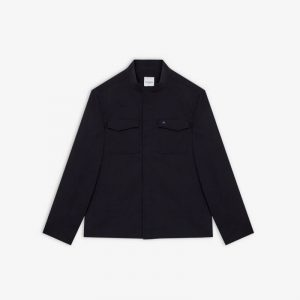 NAVY LINEN MIX STRETCH LIGHT JACKET