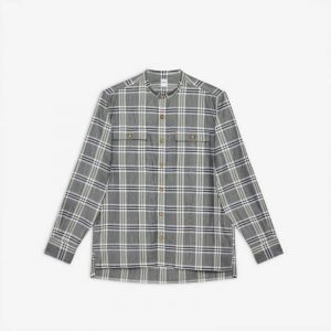 LIGHT LINEN MIXED MANDARIN SHIRT
