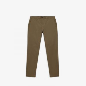 OLIVE STRETCH REG CHINO PANTS