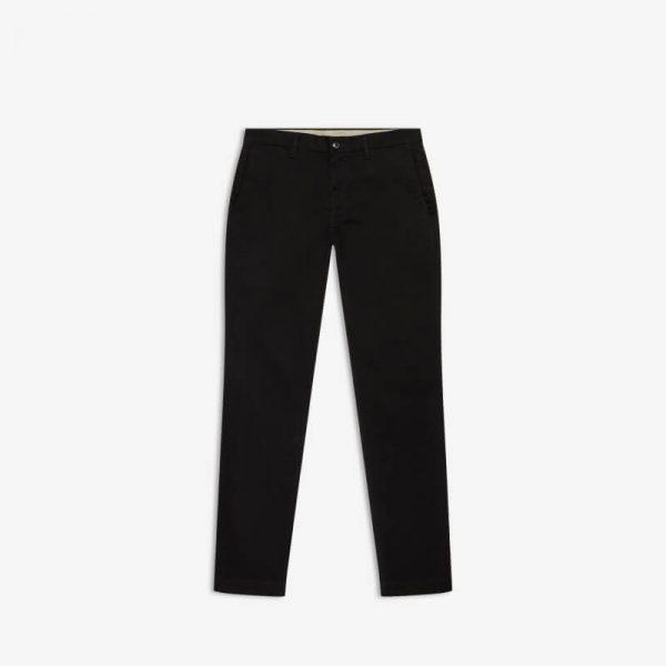 BLACK STRETCH REG CHINO PANTS