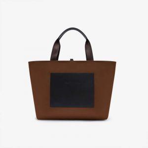 BROWN REVERSIBLE OVERNIGHT BAG