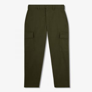 OLIVE GREEN CROPPED CARGO PANTS