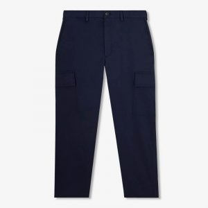 NAVY CROPPED CARGO PANTS