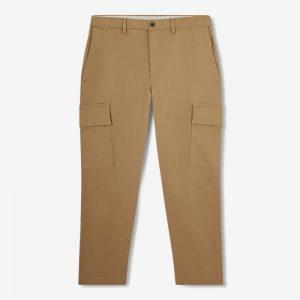 BEIGE CROPPED CARGO PANTS
