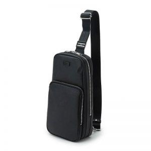 BLACK PVC ONE SHOULDER BAG