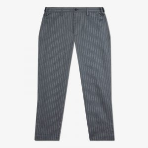 GREY SOLOTEX STRIPE PANTS WITH SLITS