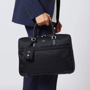 BLACK BASIC NYLON BUSINESS BAG