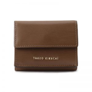 BROWN COMPACT 3-FOLD WALLET